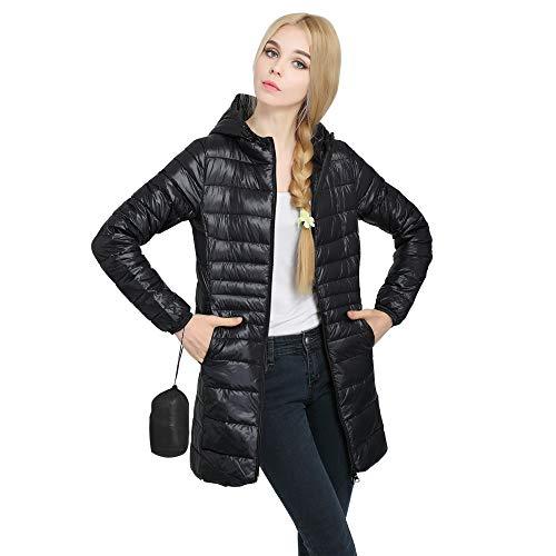 BestJuly dames donsjack, ultralicht getailleerde jas met zak verpakt Puffer jassen