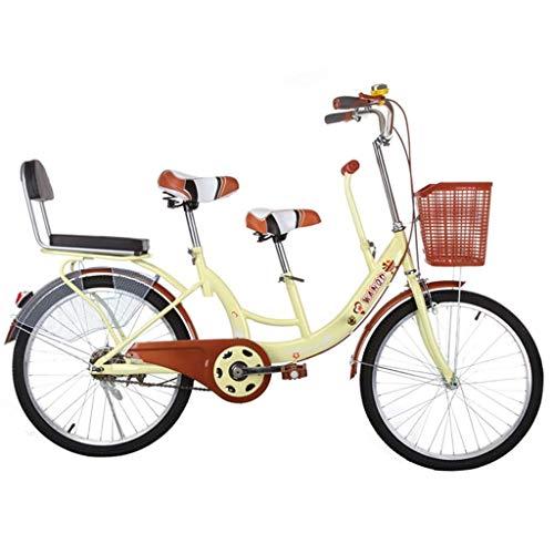 BOC Eltern-Kind-Fahrrad Weibliche leichte Mutter und Kind Doppelte gewöhnliche Reise Vintage Retro Gürtel Zaun Erwachsener, Beige, B,Beige,B