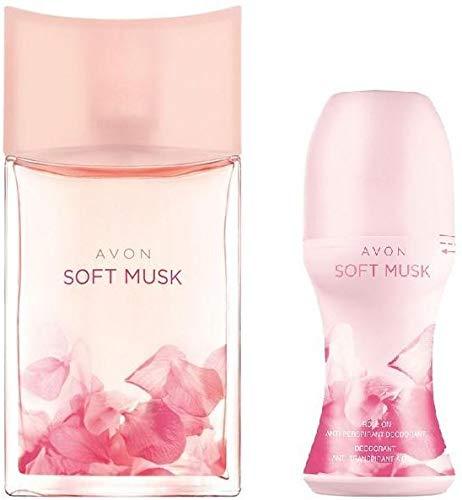 Juego de mujer Soft Musk – perfume y rollon desodorante AVON