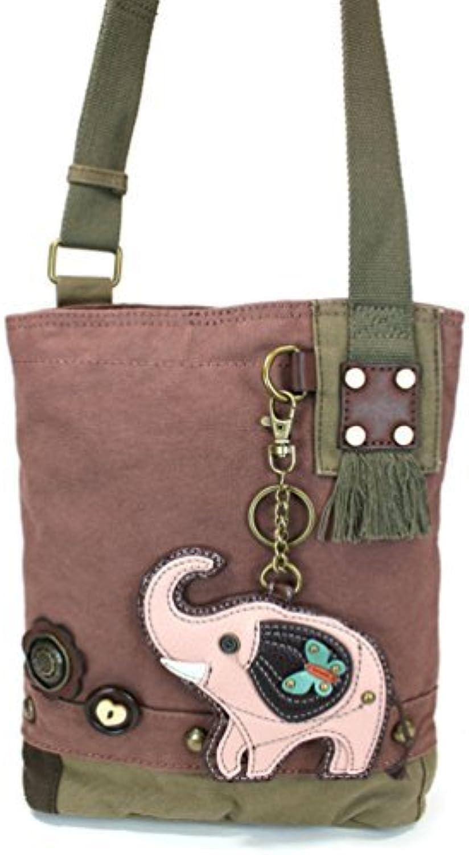 Chala Elephant Patch Crossbody Bag, Mauve