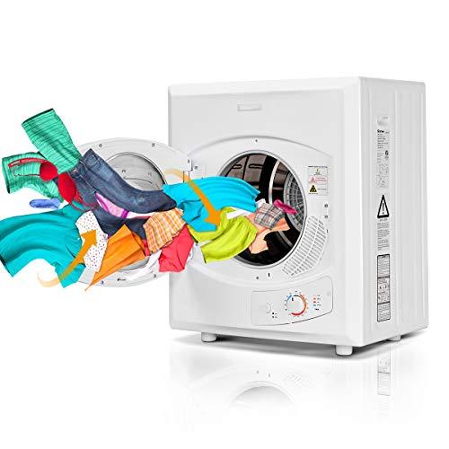 DREAMADE Wäschetrockner Ablufttrockner, Dryer Trommeltrockner, Trockner mit Edelstahltrommel, 75L/1400W/ Filtersysteme/Geruchsbeseitigung, Weiß