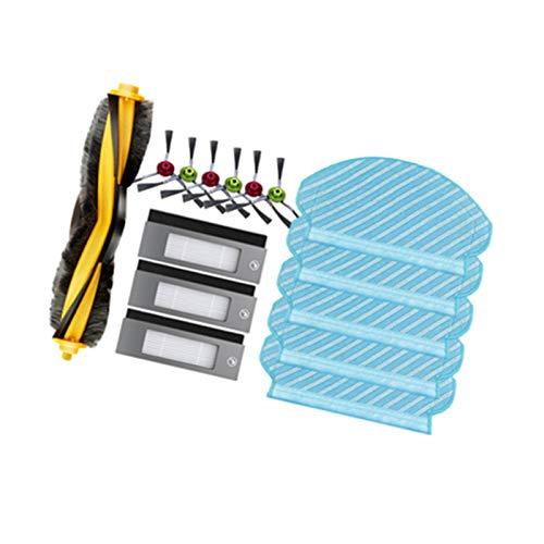 Louu Ersatz Teile Für Ecovacs DEEBOT OZMO 950 Roboter Staubsauger Schwamm Filter & Hoch Leistungs Filter Seiten Bürste Haupt Bürste Mopp Tuch