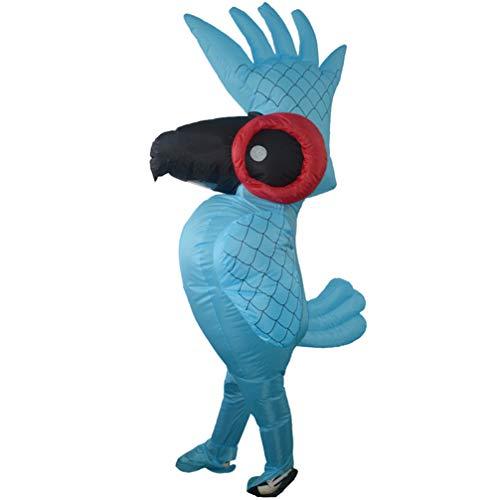 PRETYZOOM Halloweens Aufblasbares Kostüm Aufblasbares Papageienkostüm Vogelkostüm Tier Cosplay Kostüm für Halloweens Partydekorationen Liefert