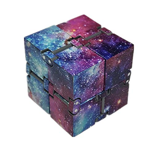 EVERMARKET Infinity Fidget Cube for Kids and Adults, Stress and Anxiety Relief Cool Hand Mini Kill Time Toys Infinite Cube for Add, ADHD (Galaxy Space)
