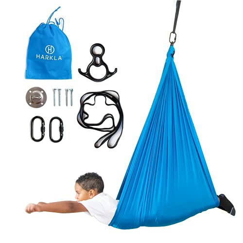 Harkla Indoor Therapy Swing for Kids - Sensory Swing Great for Autism, ADHD, and Sensory Processing Disorder - Snuggle Swing has a Calming Effect on Children with Sensory Needs