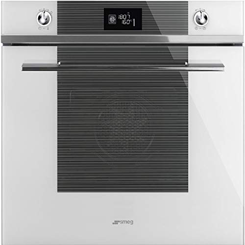 Smeg Linea SF6102TVBG 70L A+ Single Multifunction Built in Oven- White