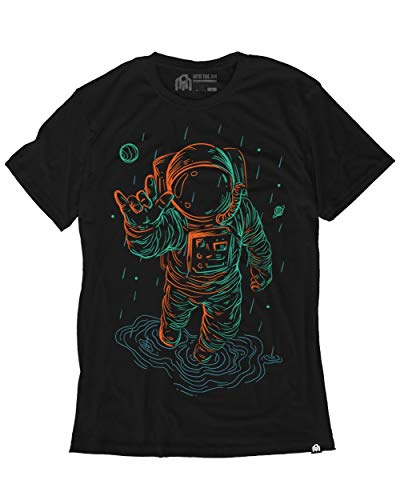 INTO THE AM Universal Love Glow in The Dark Men's Tee (Black, 2X-Large)