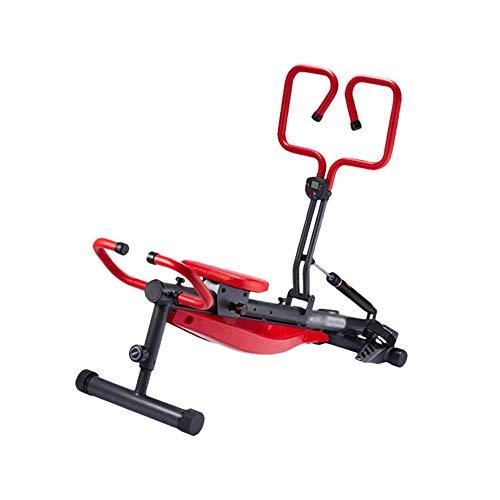 JCCOZ-URG Vogatore Vogatore for Uso Domestico Pieghevole, Mute Attrezzature for Il Fitness, Vogatore 300 lbs Capacity, 12 Livelli di Resistenza idraulica può Essere regolata URG