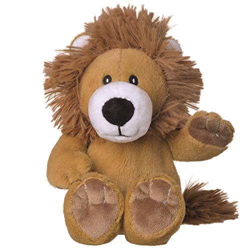 welliebellies Midi Wärmekuscheltier für Kinder - Wärmekissen gegen Schmerzen und zum Wohlfühlen - Wohltuender Kräuterduft durch Rosmarin und Lavendel, Eukalyptus & Pfefferminz - Löwe