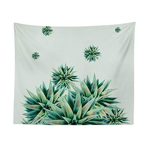 jtxqe Fashion Europa und Amerika Green Plant Tapisserie Einfach hängend Wandbehang Dekoration Tapisserie Bananenblatt Tapisserie 48 150-200