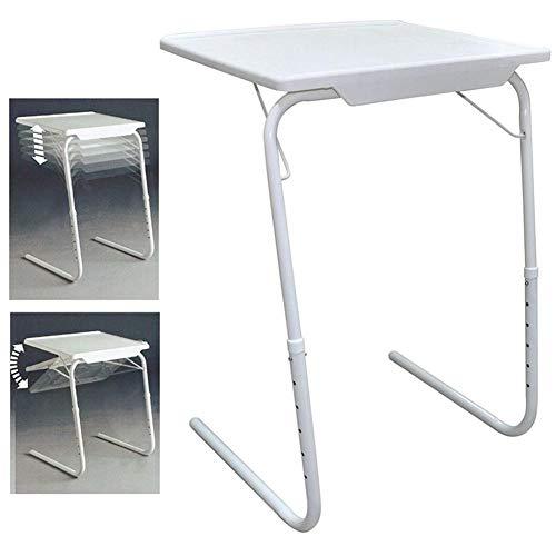 rosemaryrose Kleiner Klapptisch Picknick Camping Puzzle Tische Verstellbar-Tragbar Tischhöhe Verstellbar Klapp-Sofa Side Desk Snack Laptop TV-Tablett