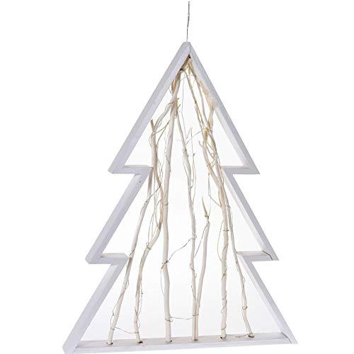 Home @ Styling Collection Árbol de Navidad con luces LED (48 cm), color blanco