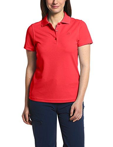 MAIER SPORTS Damen Polo Ulrike T-shirt,Rot (Cayenne), Gr. 38