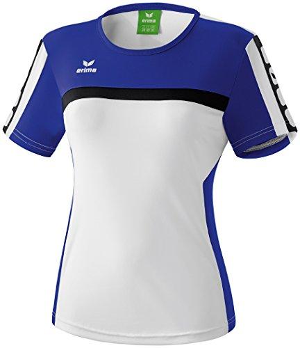 erima Damen T-Shirt 5-Cubes, Weiß/Indigo Blau/Schwarz, 42, 108520