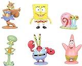 KY 6 pièces 5 Cm éponge Bob Bob l'éponge Miniatures PVC Figurines d'action Anime Figurines Objets de Collection poupées Jouets Cadeau créatif décoration de la Maison