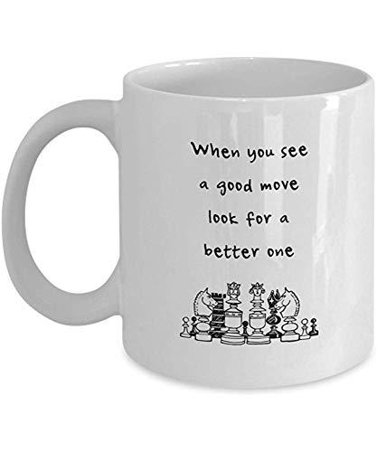 koffiemok, als je ziet een goede zet op zoek naar een betere - schaak koffie mok, 11 Oz