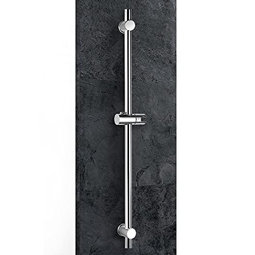 シャワースライドバー 800 mm 浴室 スライドバー付シャワーフック 角度調整可能 ハンドシャワーウォールマウント 設置距離調整可能 ステンレス鋼 クロムメッキ VENTCY