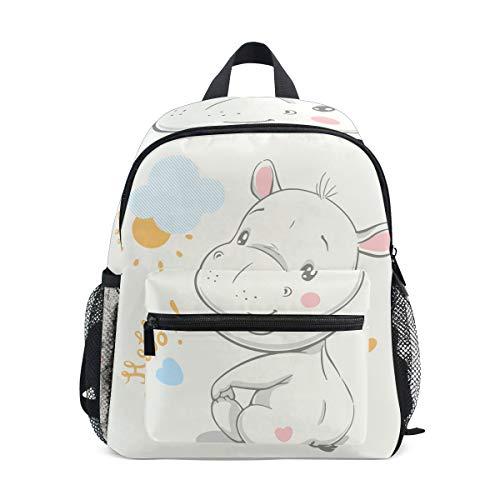 BALII - Mochila para niños con diseño de hipopótamo