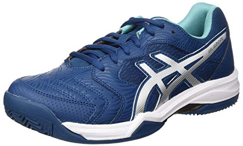 ASICS Mens Gel-Dedicate 6 Clay Tennis Shoe, MAKO Blue/White, 43.5 EU