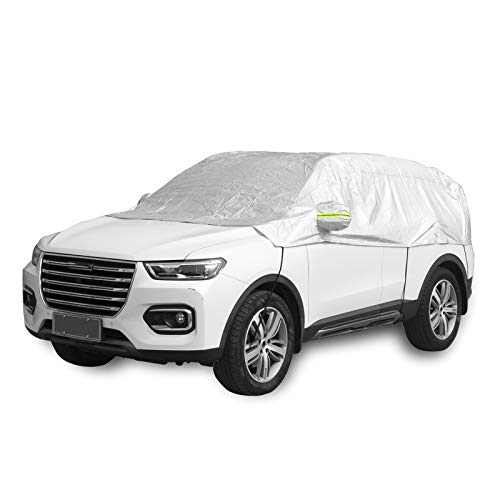 Windshield Snow Cover, Half Car Cover Top Ice Frost Cover Sun Heat Protection Frost Protector,...
