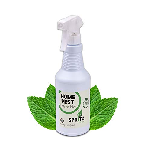Spritz Organic Home Pest Control Spray – Kills&Repels Ants, Roaches, Spiders, and More Guaranteed – All Natural Insect Killer – Non Toxic Child & Pet Safe – Indoor/Outdoor Spray – 16oz