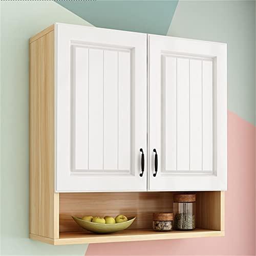 yaunli Inicio Gabinete de pared Cocina Gabinete de pared Gabinete de pared Gabinete de almacenamiento de vidrio Gabinete de baño de madera maciza Gabinete de baño