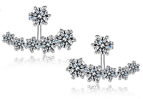 Cs Priority 925 sterline d'argento orecchini con stelline accessori da donna presente