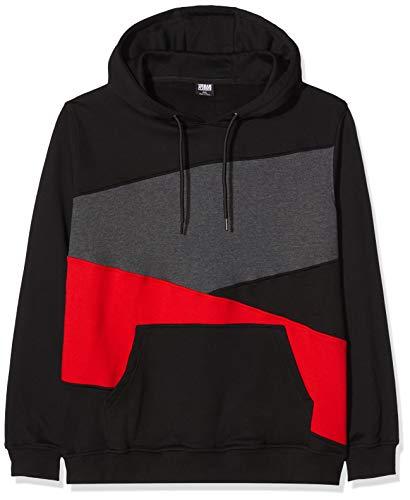 Urban Classics Zig Zag Hoodie Sweatshirt à Capuche, Mehrfarbig (blk/Red/cha 446), XXXXL Homme