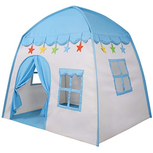 C-J-Xin Boy's Independent Tent, Photo Shop Interior Decoration/Photo Props/Weight Kamer inrichten Tent Kinderen: 1,8 Kg Kids Toy Tent (Color : Blue, Size : 130 * 100 * 130cm)