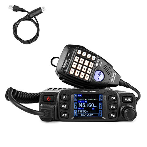 AnyTone AT-778UV Mobile Radio Transceiver Dual Band 25W VHF/UHF Vehicle Car Radio w/Cable