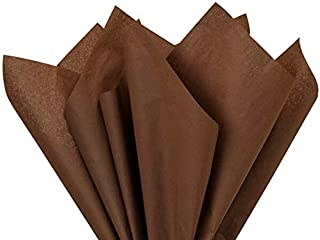 Chocolate Tissue Paper Squares, Bulk 24 Sheets, Premium Gift Wrap and Art Supplies for Birthdays, Holidays, or Presents by...