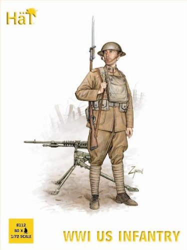 Hat Figures - WWI US Infantry - HAT8112