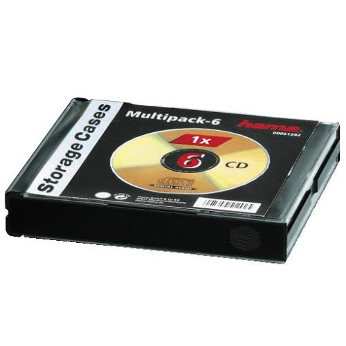 Hama CD-Leerhülle (für 6 CDs/ DVDs/ Blu-rays, Multipack, 6in1, CD-Schutzhülle) schwarz