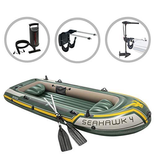 vidaXL Intext Schlauchboot Set Seahawk 4 Compact mit Schleppmotor und Halterung