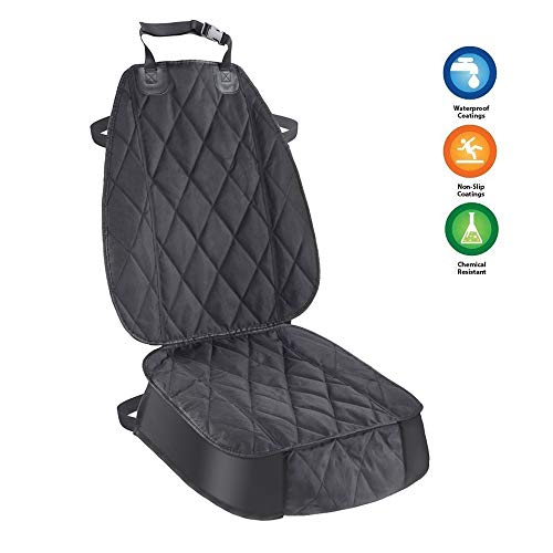 AsFrost Pet Front Seat Cover for Cars, Thick Dogs Cats Car Back Seat Covers, Durable Nonslip Waterproof Universal Fit Protectors Cars, Trucks, SUV, Hammock Convertible