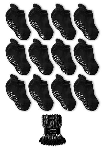 LA Active Calcetines Tobilleros Niño y Niña - Calcetines antideslizantes para niños, calcetines invisibles y cortos para recién nacido y bebé, para verano e invierno