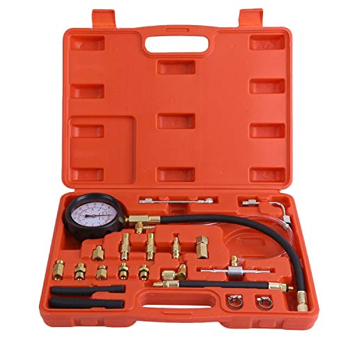 Best Review Of TURBO SII 0-140Psi Oil Fuel Injection Pressure Tester Fuel Pump Pressure Gauge Kit Ca...