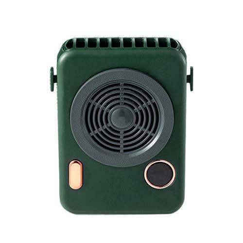 GREEN&RARE Ventilador de cuello USB, refrigerador de 5 V, recargable, portátil, silencioso, pequeño, para viajes al aire libre, oficina, refrigeración