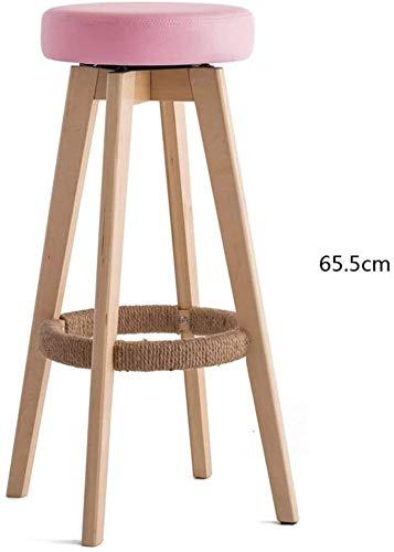Suge Barhocker, Frühstück Küchentheke Stühle Bar Stuhl Woody Schwamm Kissen Stab-Stuhl Handmade Hanf-Seil-Winding Fußbrettbügel Stuhl Haushalt Bar Moderner Minimalist Barhocker Drehen Hohe Hocker