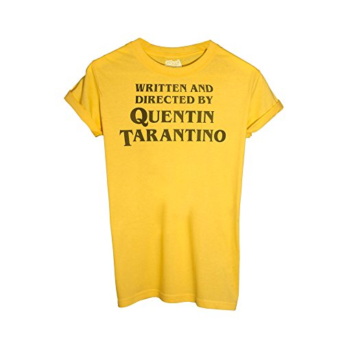 MUSH T-Shirt Titolo di Coda REGIA Quentin Tarantino - Film by Dress Your Style - Uomo-L-Gialla