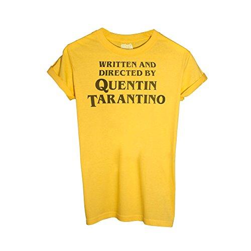 MUSH T-Shirt Titolo di Coda REGIA Quentin Tarantino - Film by Dress Your Style - Uomo-M-Gialla