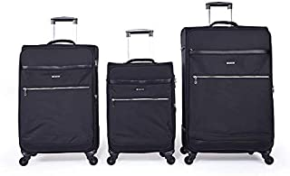 Magellan Softside spinner luggage Set of 3 pieces with TSA Lock -Black