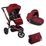 foto Jané Trider - Cochecito de bebe 2 piezas, silla de paseo de 3 ruedas y portabebé convertible matrix light 2, Unisex, Granate