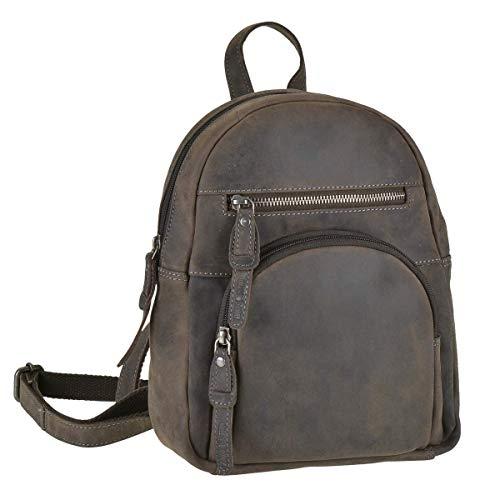 Greenburry Rucksack Damen Daypack Cityrucksack Leder braun antik Vintage Revival Limited