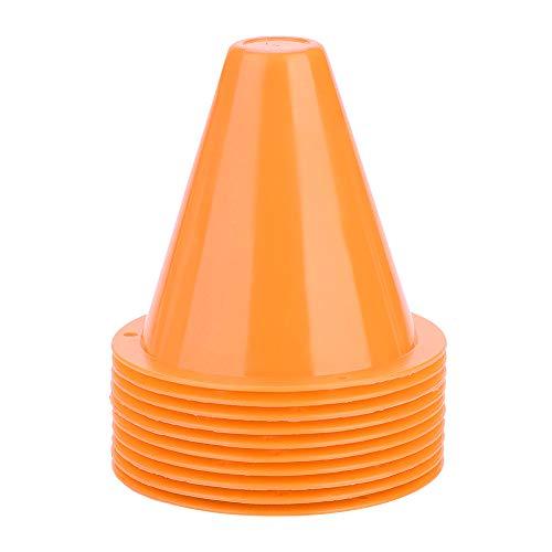 Sportowe pachołki drogowe, 10-częściowe słupki treningowe do piłki nożnej Znaczniki pachołków drogowych Dobrze widoczne bariery piłkarskie Szyszki sygnałowe treningowe Stożek zwinności (pomarańczowy)