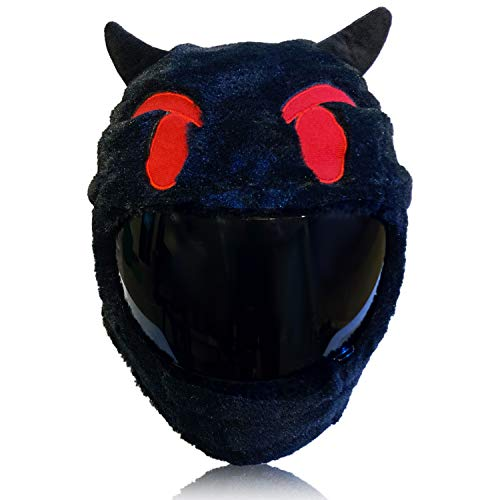 Devil Emoji Motorcycle Helmet Cover Sleeve, Funny Cool Emoji Full Face for Adults by Carbon Moto Gear D.I.L.L.I.G.A.F. Line