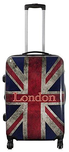 Valigetta da viaggio in policarbonato ABS, rigida, bagaglio a mano, nei modelli trolley o beauty case, XL L M S Multicolore UK London. L