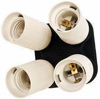 Fancierstudio 4 Socket Adapter 4 in 1 Adapter Holder E27 Bulb Lamp Light Socket Splitter For Photo Studio By Fancierstudio 6801
