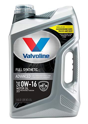 Valvoline Advanced Full Synthetic SAE 0W-16 Motor Oil 5 QT
