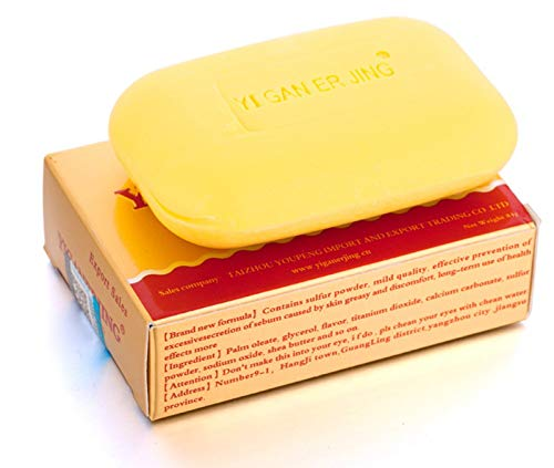 Secret Love Sulfur Soap Bath Shower Antibacterial Body Cleanser Bar Home